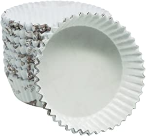 Enlynn Disposable Ruffled Round Shape Non-Stick Paper Baking Cup, Pack of 100 (3.5