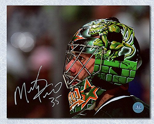 AJ Sports World Marty Turco Dallas Stars Autographed Goalie Mask Close-Up 8x10 Photo