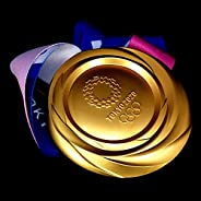 LEWEN 1:1 Replica The Gold Medal of The 2020/2021 Tokyo Olympic, with Ribbon Award Gift Toy Collection