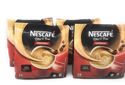 4-PACK Nescafe 3-in-1 Original Blend and Brew Premix Instant Coffee (112 Sticks) by Nescafé