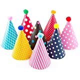 Kids Birthday Party Hats, Fun Party Hats Set for Kids Birthday New Year, Hats Set of 9 Hats and 2 Crowns