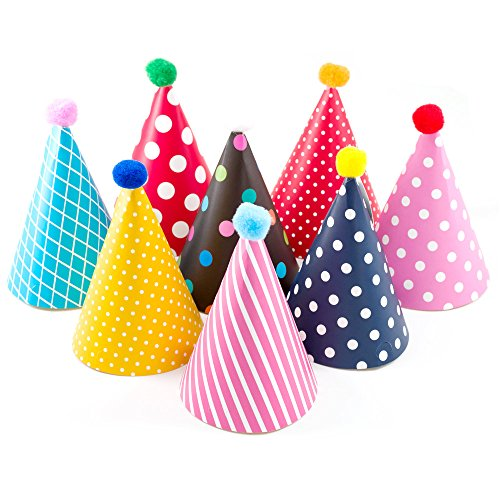 Kids Birthday Party Hats, Fun Party Hats Set for Kids Birthd