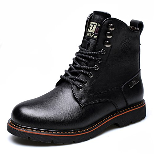 Starttwin Mens Stylish Combat Boots- Lace Up Flat Heel Casual Motorcycle Ankle Boots - stylishcombatboots.com