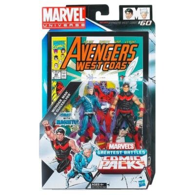 Marvel Universe Wonder Man and Quicksilver Figure Comic Pack 4 Inches