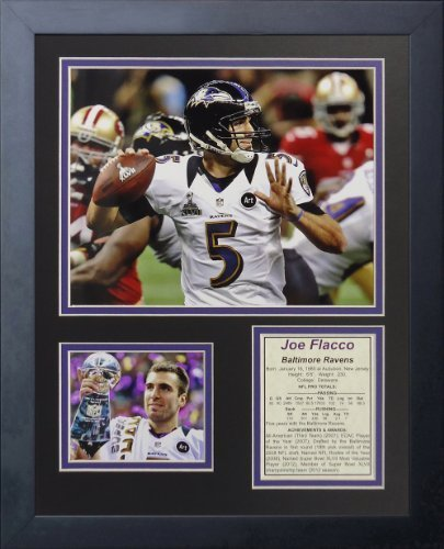 "Legenden Sterben Nie ""Joe Flacco MVP"" gerahmtes Foto Collage, 11 x 35,6 cm von Legends Never Die"