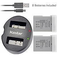 Kastar Battery (X2) & Dual USB Charger for Nikon EN-EL14a, EN-EL14, ENEL14A, ENEL14 EL14 & Nikon Coolpix P7000 P7100 P7700 P7800, D3100, D3200, D3300, D3400, D5100, D5200, D5300 DSLR, Df DSLR, D5600