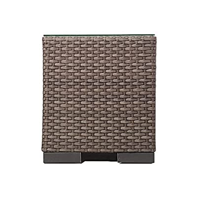 Atlantic Bellagio Grey Wicker Side Table - Atlantic Lifestyle Collection Side Table Dimensions: 17Lx17Wx19H. High quality synthetic wicker construction. Its resistance to weather and UV radiation makes the set durable and enjoyable. - patio-tables, patio-furniture, patio - 51tlV7gnMLL. SS400  -