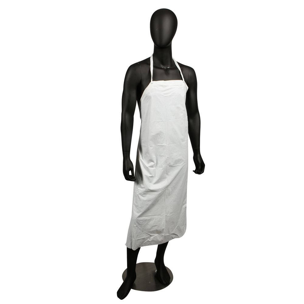 San Jamar 614DVA Vinyl Dish Washing Apron with Heavy-Duty Braided Ties, 43'' Length x 36'' Width x 8 mil Thick, White by San Jamar