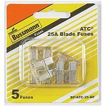 Bussmann BP/ATC-25-RP ATC Automotive Blade Fuse (25 Amp (Card)), 5 Pack