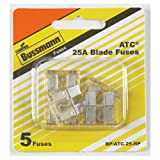 Bussmann BP/ATC-25-RP ATC Automotive Blade Fuse (25 Amp (Card)), 5 Pack