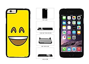 Bright Yellow Smiley Grin with Teeth Face Plastic Phone Case Back Cover Apple iPhone 6 (4.7 inches)
