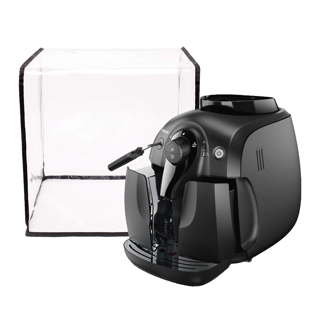 Clear Kitchen Coffee Maker Cover, Universal Coffee Maker Espresso Dust Cover, Kitchen & Dining Small Appliance Parts Cover JJZ089