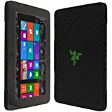 """Skinomi® TechSkin - Razer Edge Pro Tablet Screen Protector + Carbon Fiber Full Body Skin Protector / Front & Back Premium HD Clear Film / Ultra High Definition Invisible and Anti-Bubble Crystal Shield with Free Lifetime Replacement Warranty - Retail Packaging (10.1"""" Display)"""
