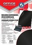 Okladki do bindowania Office Products A4 kartonowa 100 sztuk Czarna/blyszczaca