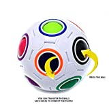 Little Treasures Cube Challenging Puzzle Ball Speed Cube 11 Rainbow Colors to Solve