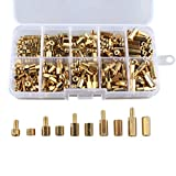 300Pcs M3 4-12mm Copper Brass Hex Column Pillars Standoff Circuit Spacer PCB Board Nut Screws Hex Round Single Cylinder Head