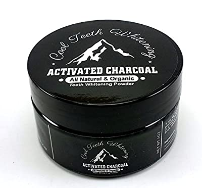 Cool Teeth Whitening Activated Natural Organic Charcoal Toothpaste For Sensitive Tooth and Gum Powder - Whiten, Clean and Detoxify - Vegan - No Chemicals - No Bleach Whitener