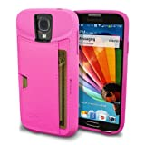 Galaxy S4 Wallet Case - Q Card Case for Samsung Galaxy S4 by CM4 - Ultra Slim Protective Credit Card Carrying Case (Pink Sapphire)