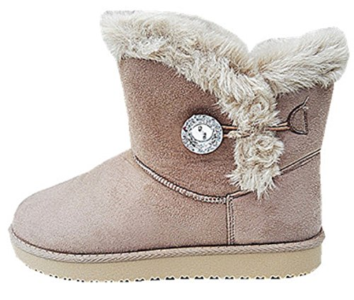 Boots Shoe Fur Heel Boot Snow Woman Girl Bottine jr911 nbsp;Taupe Flat YEwIq