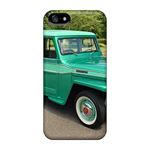 For AbbyRoseBabiak Iphone Protective Cases, High Quality For Iphone 5/5s 1960 Willys Skin Cases Covers