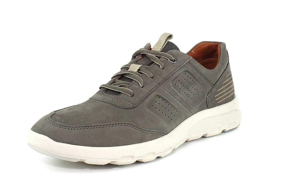 Dark Olive Rockport Mens Lets Walk M UBal Sneaker