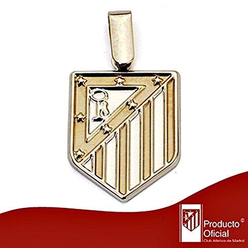 Pendentif Atletico Madrid loi bouclier 18k de 20mm d'or. lisse [8435] - Modèle: 20-012-L