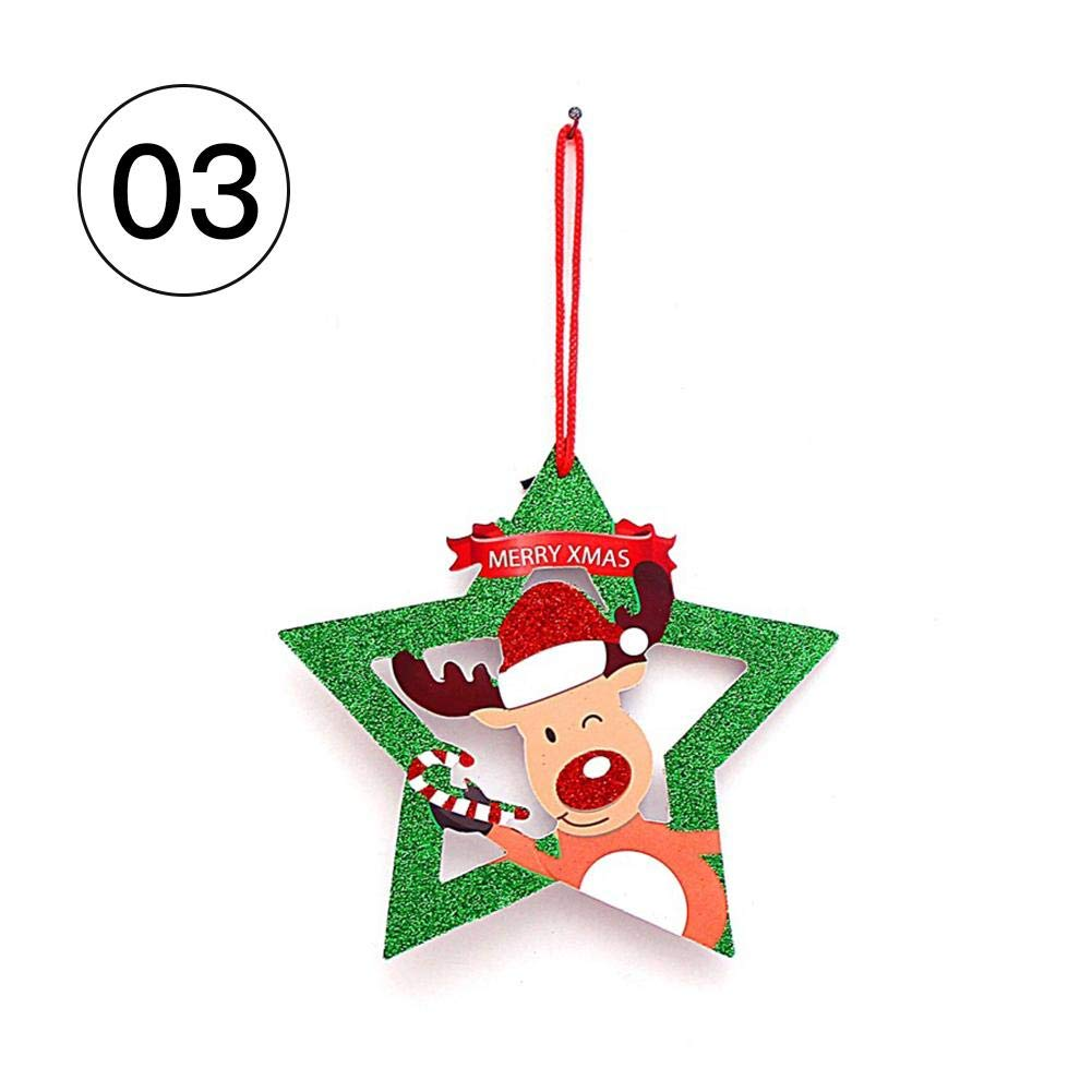 Étiquette de Noël Suspendu Décoration Bulle Bonhomme de Neige Cloche Santa Joyeux Noël pour Porte Fenêtre Mur Mignon