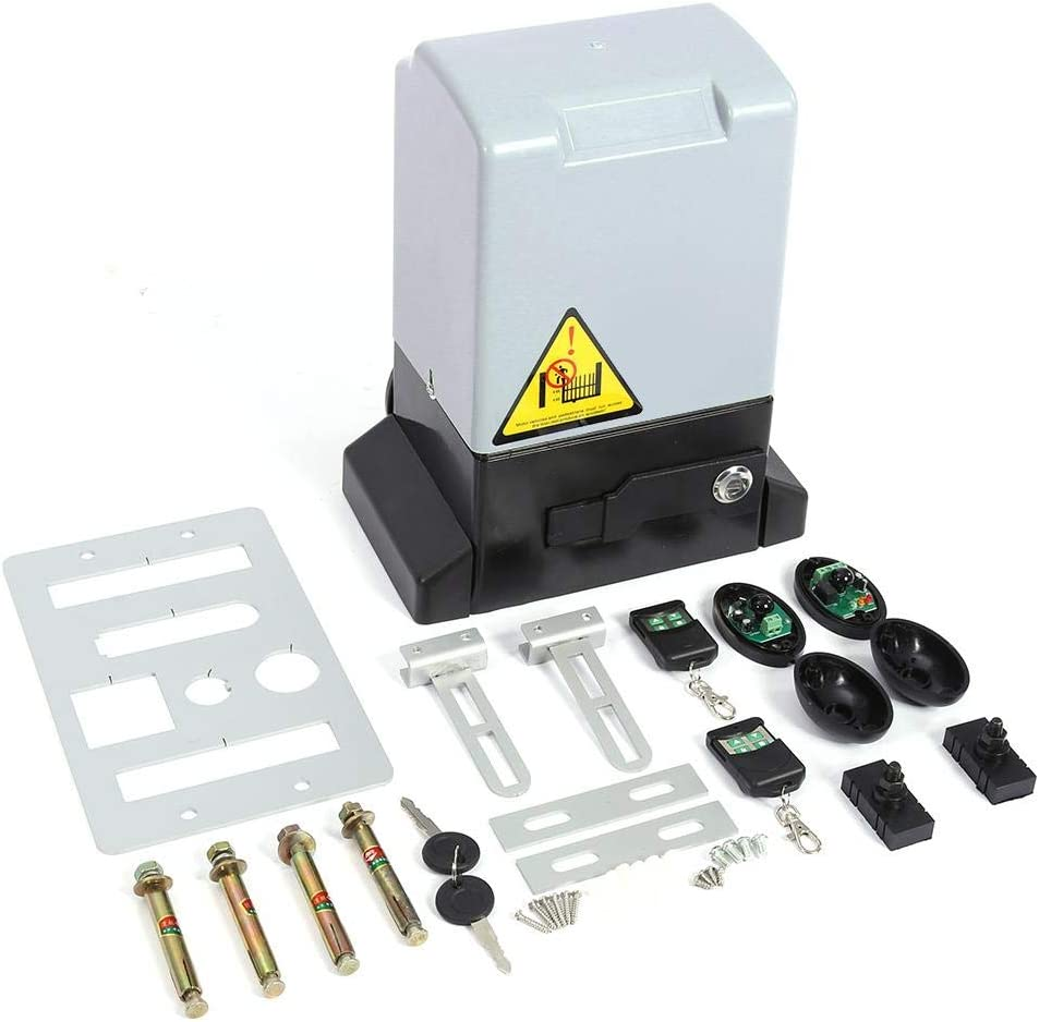 Kit de Motor de Apertura de la Puerta Automático Ajustable de 2000KG y 750w con Sonda de Sensor Infrarrojo Sistema de Cierre(Motor)