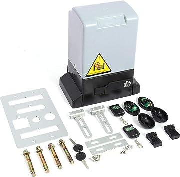 Kit de abridor de Puerta corredera Automático Ajustable de 1200KG y 550w con Sonda de Sensor Infrarrojo Protección de la Temperatura Sistema de Cierre Automatico(Motor): Amazon.es: Bricolaje y herramientas