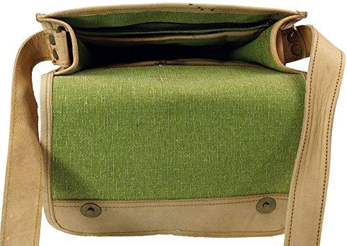 Guru-Shop Tasche aus Kamelleder, Schultertasche, Ledertasche, Herren/Damen, Braun, Size:One Size, 29x23x7 cm, Handtasche, Umhängetasche
