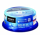 Sony Blu-ray Disc | BD-R 25GB 4x - Ink-jet Printable 25 Pack Spindle | 25BNR1VGPP4 (Japanese Import)