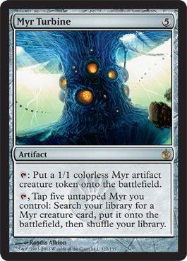 (Magic: the Gathering - Myr Turbine - Mirrodin Besieged -)