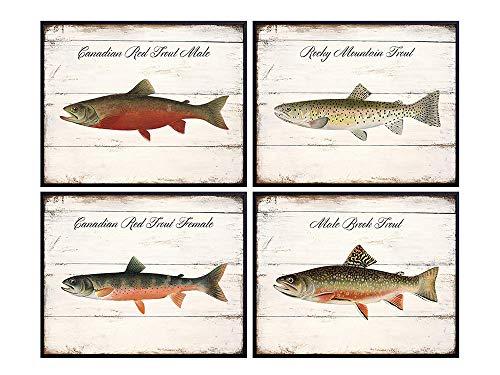 Fisherman Gift Natural History Print Cabin Wall Art Yellow Perch Art Print Rustic Wall Decor Denton Fish Print Reproduction