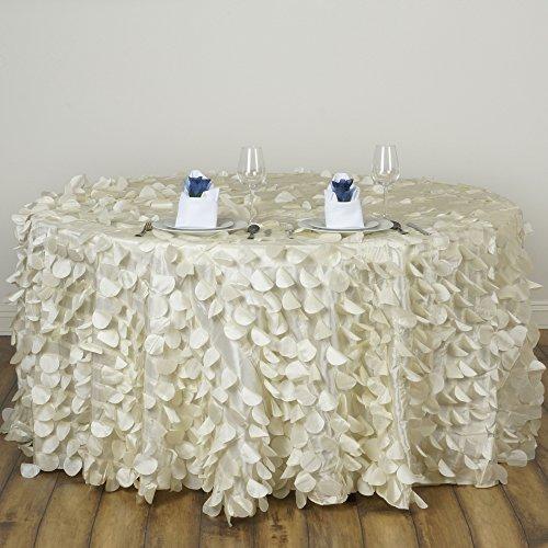 y Round Flamingo Petals Tablecloth for Wedding Banquet Restaurant Home Decorations ()