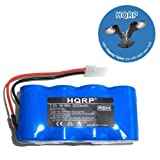 HQRP 3000mAh Extended Battery for Euro-Pro Shark battery pack XB1918 Cordless Sweepers Replacement plus HQRP Coaster, Office Central