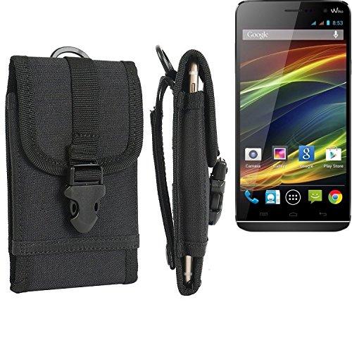 bolsa del cinturón / funda para Wiko Slide, negro   caja del teléfono cubierta protectora bolso - K-S-Trade (TM)