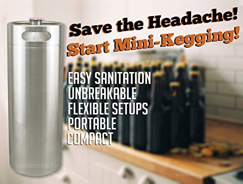Mini barril de acero inoxidable de 10L (2.64 galones) para cerveza Homebrew Kegerator Growler Ball Lock Cornelius Corny