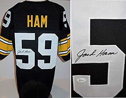 18d6492b26a Image Unavailable. Image not available for. Color  Jack Ham Signed -  Autographed Custom Jersey with Witnessed JSA Certificate of Authenticity ( COA)