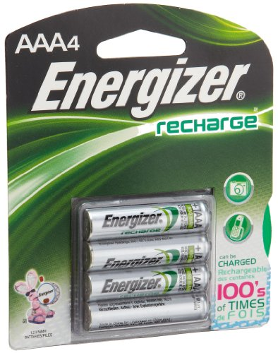 Energizer AAA Battery, Rechargeable, 4 ct