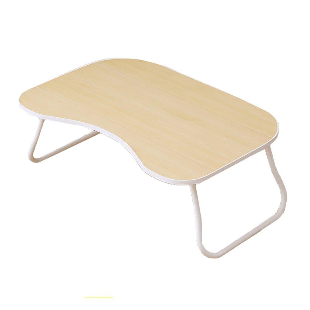 折り畳みテーブル& ラップトップテーブル、ポータブルドミトリーリトルブックテーブル、多機能ベッドトレイ、多目的およびツールレスアセンブリ (色 : 白) B07DWLYTF3白