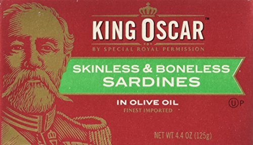 King Oscar Skinless & Boneless SARDINES in Olive Oil 4.4oz (9 Pack)