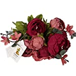 Luyue-Vintage-Artificial-Peony-Silk-Flowers-Bouquet-New-Dark-Red