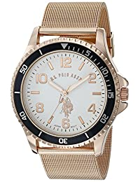 U.S. Polo Assn. Classic Men's Quartz Metal and Alloy Watch, Color:Rose Gold-Toned (Model: USC80378)