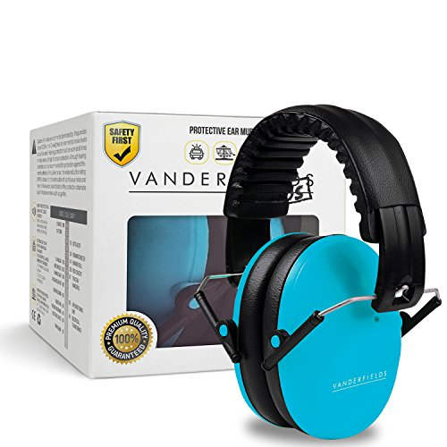 Vanderfields Earmuffs for Kids - Hearing Protection Muffs For Children Small Adults Women - Foldable Design Ear Defenders Protector with Adjustable Padded Headband for Optimal Noise Reduction - - At Try On Glasses Home