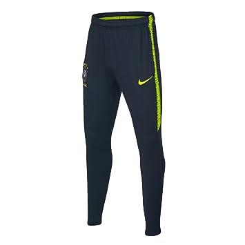 Nike Dry Brasil CBF Squad Hombre, Armory Navy/Volt/Volt, S: Amazon ...