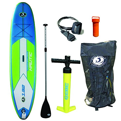 California Board Company 11′ Nautic Inflatable Stand up Paddle Board with Pump, Paddle, Bungee, Tri Fin System and Ankle Strap
