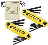 Pine Ridge Archery Bow Archers Allen Wrench Tool Set | 2pk Bundle + Pouch (Deluxe Size)