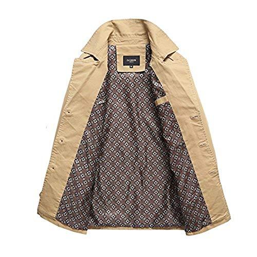 Coat De Larga Outwear Sola Manga Delgada para Deportiva Chaqueta Hombre Casual Abrigo Chaquetas M Chaqueta Cortavientos Ropa Botonadura 6PwSq77B