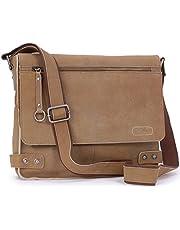 Ashwood Messenger Bag - Cross Body/Shoulder/Work Bag - Genuine Leather - Harris - Camden 8354