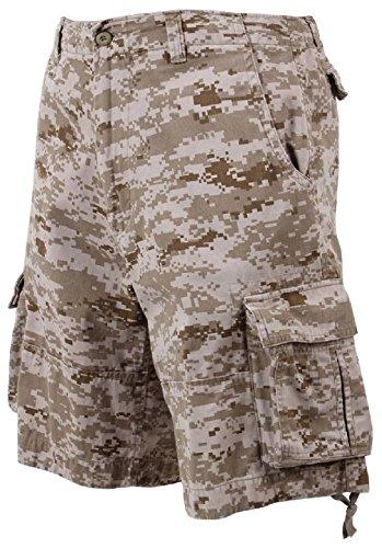 Bellawjace Clothing Desert Digital Camouflage Vintage Infantry Military Utility Cargo Shorts